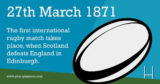 March 27th #1871 - #EventsInHistory #Rugby #ScotlandBeatsEngland